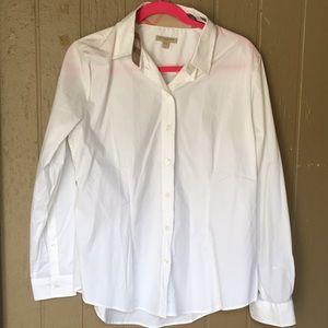 Burberry button white blouse
